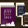 New! Detroit Fireworks Save the Date Magnets