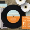 Custom Designed: Rockin' Austin 7″ Vinyl Record Invitations