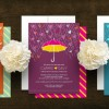 New! Umbrella Baby Shower Invitations