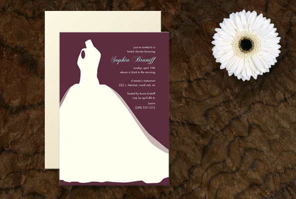 Ball Gown Silhouette 22nd Mar 2010 Posted in Bridal Shower Invitations