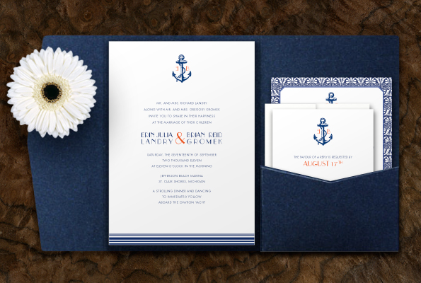 Nautical Themed Wedding Invitations Se or Se ora