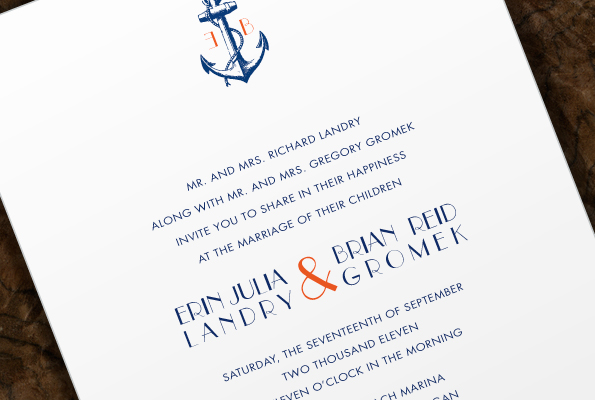 Lollis blog This nautically themed wedding invitation has been – Nautical Theme Wedding Invitations